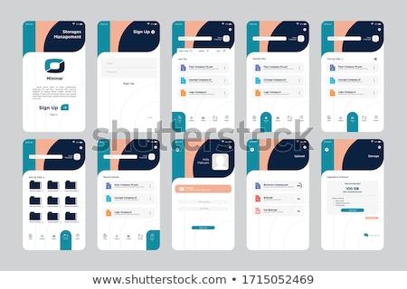 social media dashboard app interface template stock photo © rastudio