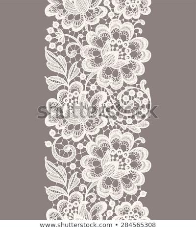 Vecteur modèle dentelle design fleurs Photo stock © RedKoala