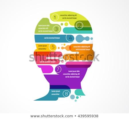 Cervello creativo mente uomo testa apprendimento Foto d'archivio © marish