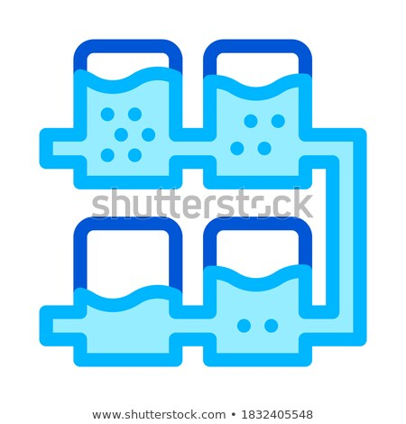 Multiple Tier System Water Treatment Vector Icon Stock photo © pikepicture