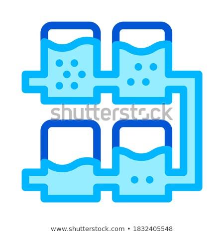 çoklu su tedavi vektör ikon imzalamak Stok fotoğraf © pikepicture
