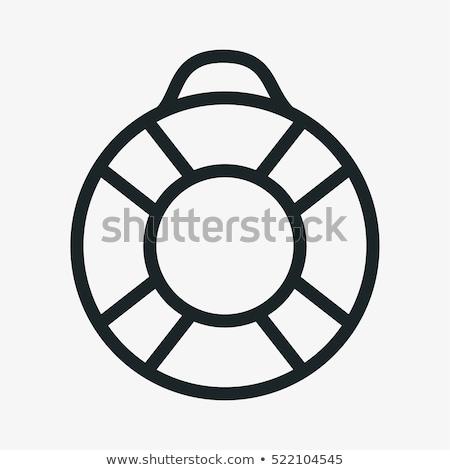 Lifebuoy Saving Ring Icon Vector Illustration Stock photo © robuart