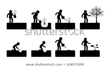 Man with Shovel Digging, Woman with Watering Can Stock photo © robuart