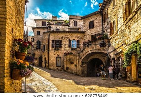 мнение · средневековых · города · Италия · небе · пейзаж - Сток-фото © borisb17