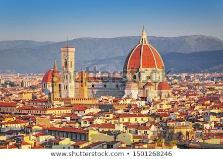 Vue FLORENCE cathédrale Italie colline ciel Photo stock © borisb17