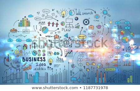 Colorful mind map over bright background Stock photo © wavebreak_media