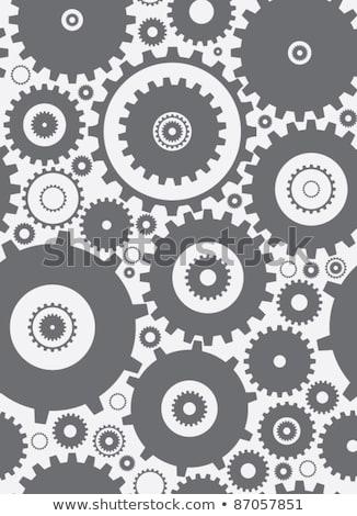 Engrenagens engrenagens sem costura máquina steampunk padrão Foto stock © Krisdog
