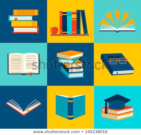 Lectura papel libros vector ilustración Foto stock © vectorikart