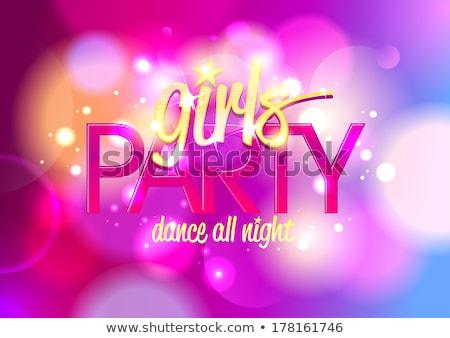 lady dancing in nightclub bachelorette vector stock photo © robuart