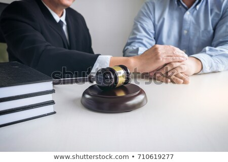 Image of Male lawyer or judge help encourage client, customer, w Stock photo © Freedomz