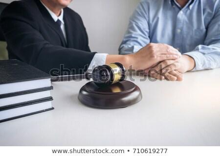 Kép férfi ügyvéd bíró segítség bíztat Stock fotó © Freedomz
