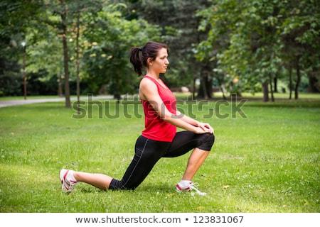 Jovem esportes mulher corrida fora Foto stock © Lopolo