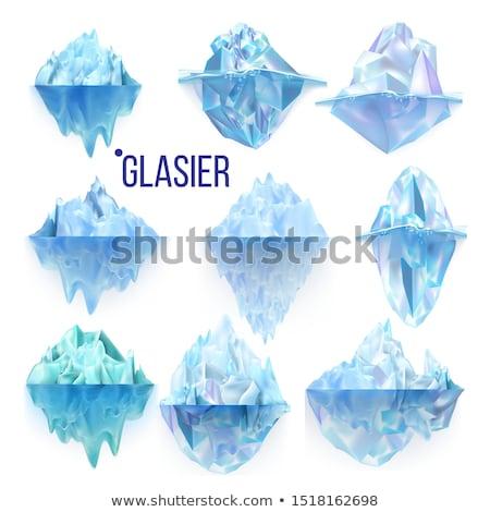 jéghegy · lebeg · víz · nap · természet · tenger - stock fotó © pikepicture