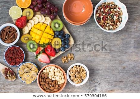 マンゴー フルーツ 木製のテーブル トロピカルフルーツ 食品 背景 ストックフォト © galitskaya