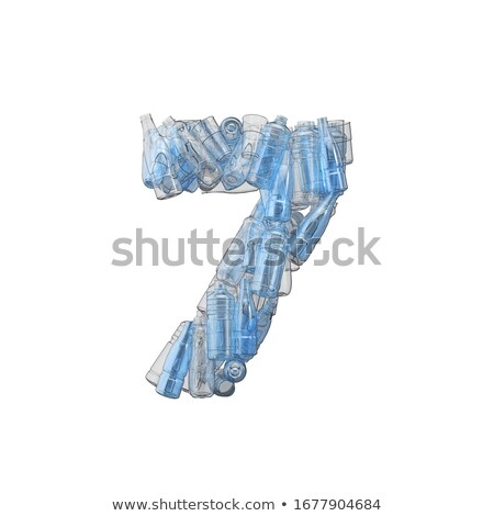 Number seven made of plastic waste bottles Stock photo © lightkeeper