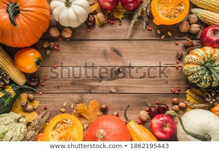 Laranja abóbora sazonal decoração Foto stock © sarahdoow