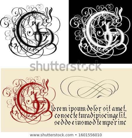 Dekoratif Gotik mektup g kaligrafi vektör eps8 Stok fotoğraf © mechanik
