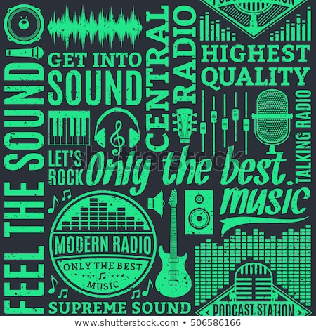 Podcast And Radio Seamless Pattern Vector Stock photo © pikepicture