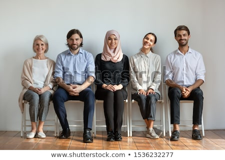 Muslim Woman In Hijab Sitting At Interview Stock photo © AndreyPopov