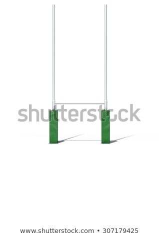 Rugby Posts Isolated on White Stock photo © albund