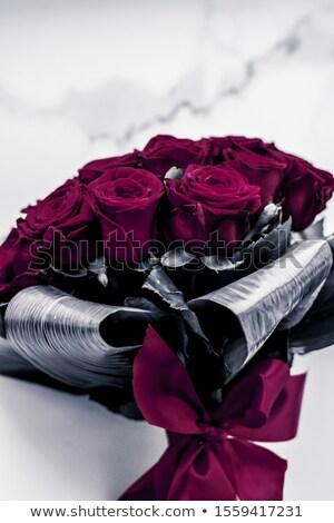 Luxe boeket kastanjebruin rozen marmer mooie Stockfoto © Anneleven