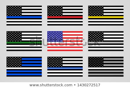 Grey Police and Firefighter Flag Background Illustration Stock photo © enterlinedesign