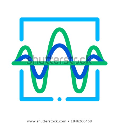 Sound Wave Diagnostics Voice Control Icon Vector Illustration Stock photo © pikepicture