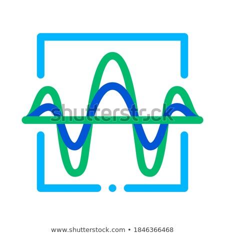 onda · sonora · voce · controllo · icona · vettore - foto d'archivio © pikepicture