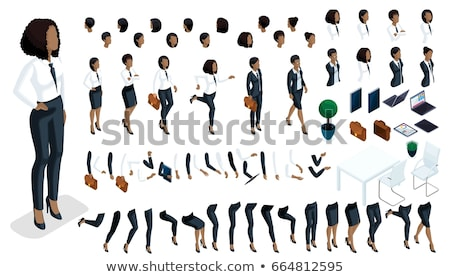 Business Startup, Team of Workers with Signs Web Stock photo © robuart