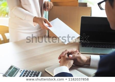 Alkalmazott üzletember küldés lemondás irat levél Stock fotó © snowing