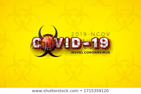 Coronavirus theme with virus cells in human lungs Stock photo © bluering