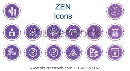 icons with chakras   yoga Stock photo © Olena