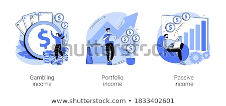 Gambling income vector concept metaphors. Stock photo © RAStudio