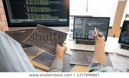 Collaborative work Software engineers website developer technolo Stock photo © snowing