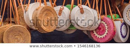 Szalag hosszú formátum tipikus szuvenír bolt Stock fotó © galitskaya