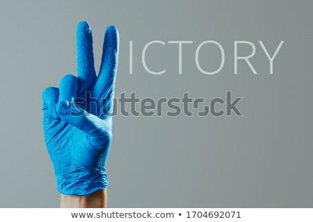 男 にログイン 着用 外科的な 手袋 クローズアップ ストックフォト © nito