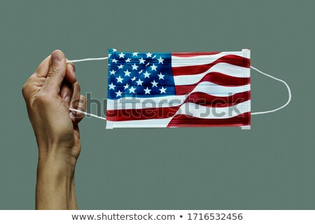 Mascarilla quirúrgica Estados Unidos primer plano hombre bandera Foto stock © nito