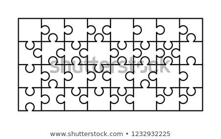 Beyaz parçalar dikdörtgen biçim şablon Stok fotoğraf © evgeny89