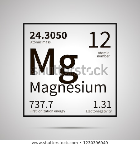 Magnesium chemical element with first ionization energy, atomic mass and electronegativity values ,s Stock photo © evgeny89