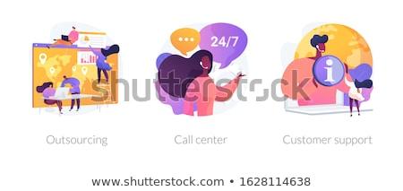 Hattı vektör mecaz müşteri destek Stok fotoğraf © RAStudio