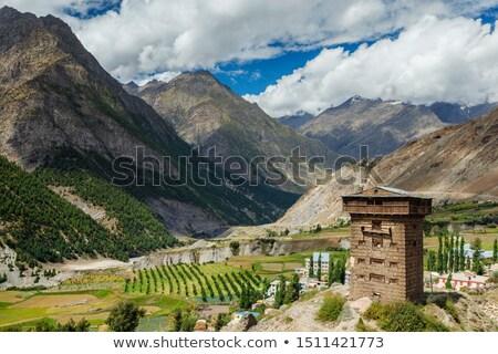 Kastély völgy India erőd hirdetés égbolt Stock fotó © dmitry_rukhlenko
