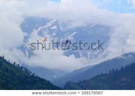キャンプ 山 谷 インド テント ヒマラヤ山脈 ストックフォト © dmitry_rukhlenko