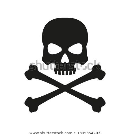 Black Jolly Roger Skull Stock photo © sharpner
