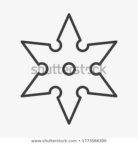 Arme utilisé arts martiaux métal chinois blanche Photo stock © farres