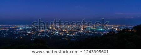 Kentsel sahne genç iş gökyüzü Bina adam Stok fotoğraf © carloscastilla
