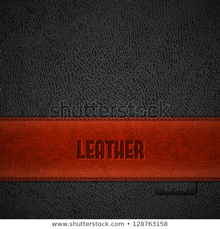Red genuine leather Stock photo © vichie81