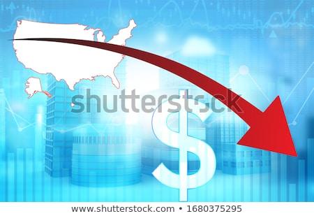 Gráfico diminuir dinheiro mercado informação Foto stock © experimental