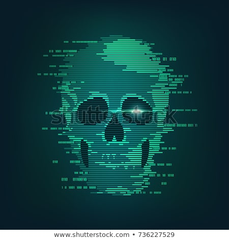コンピュータ 犯罪 海賊 プラスチック 注意 テープ ストックフォト © devon