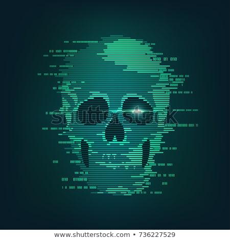 computer · Geel · voorzichtigheid · tape · toetsenbord · achtergrond - stockfoto © devon