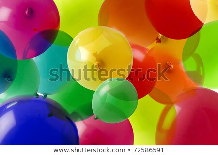 many colored balloons forming a bright background wallpaper imag Stock photo © dacasdo